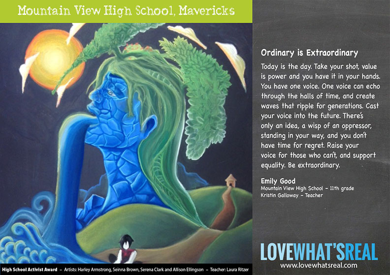 Ordinary is Extraordinary - High School Activist Award - Mountain View High School, Mavericks