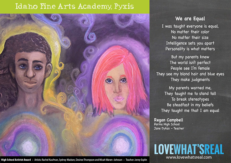 High School Activist Award - Idaho Fine Art Academy, Pyxis