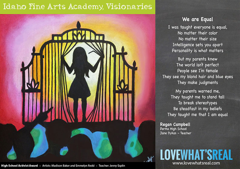 High School Activist Award - Idaho Fine Arts Academy, Visionaries
