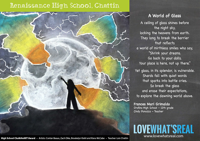 High School Chalk HeART Award - Renaissance High School, Chattin