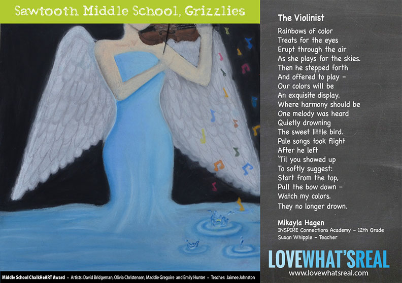 Middle School Chalk HeART Award - Sawtooth Middle School, Grizzlies