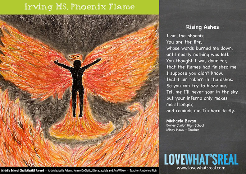 Statewide Middle School Chalk HeART Award - Irving MS, Phoenix Flame