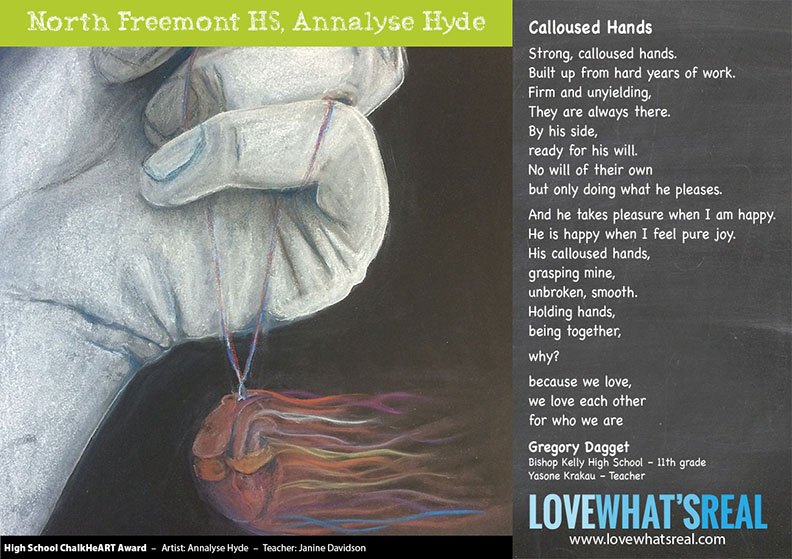 Statewide High School Chalk HeART Award - North Freemont HS, Annalyse Hyde