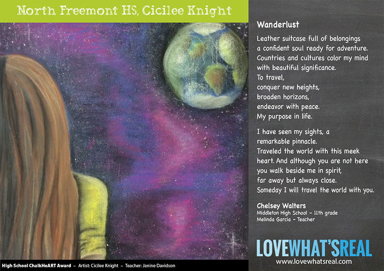 Statewide High School Chalk HeART - North Freemont HS, Cicilee Knight