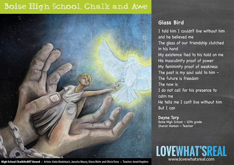 High School Chalk HeART Award - Boise High School, Chalk and Awe