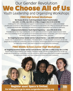 We Choose All of Us Youth Leadership and Organizing Workshops